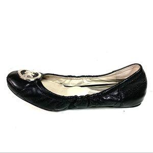 Michael Kors Black Leather Ballet SlipOn Flats 7.5